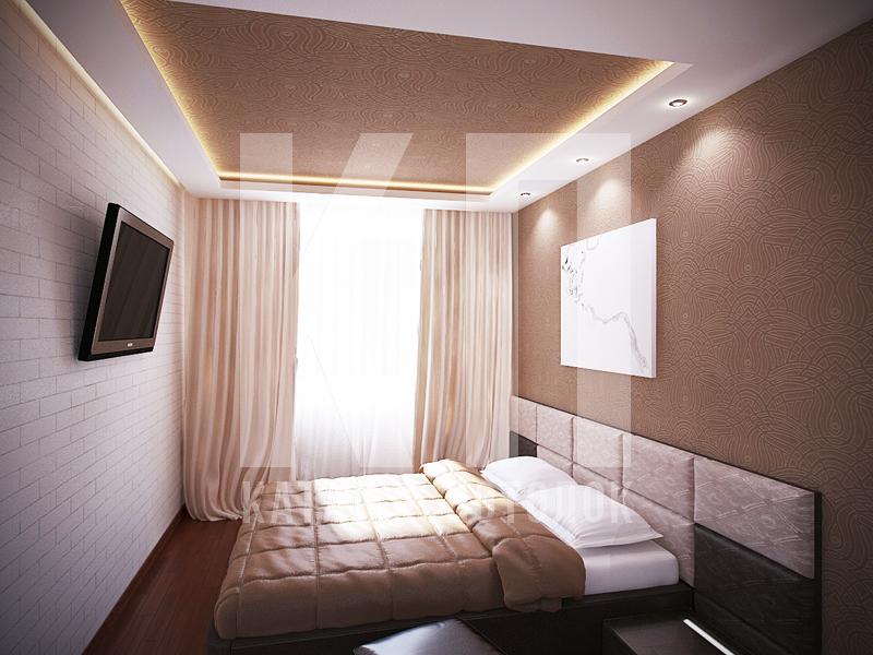 натяжные потолки два уровня фото