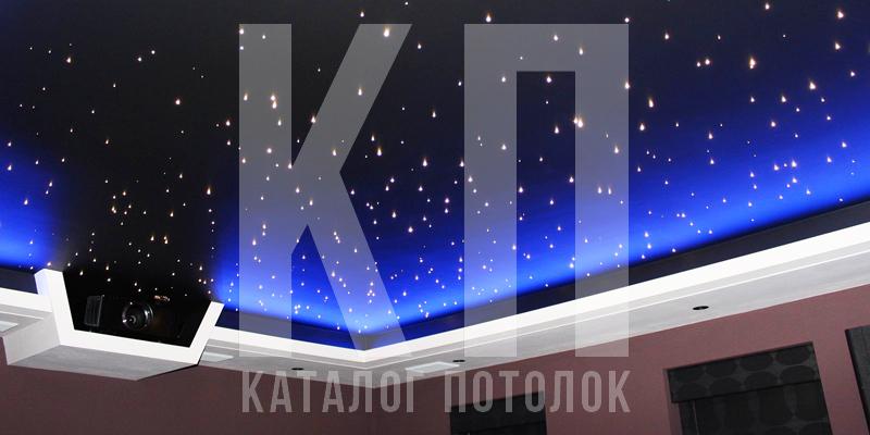 Натяжные потолки с эффектом звездное небо