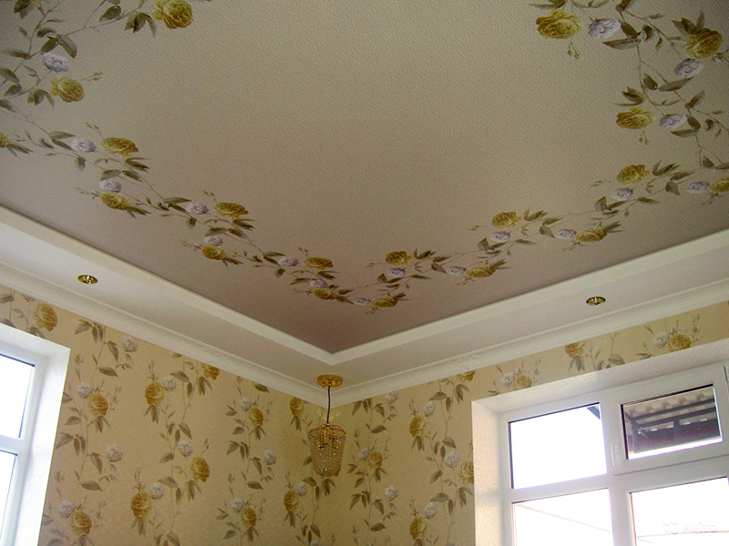 Натяжной потолок тканевый матовый