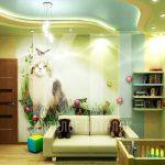 Натяжные потолки в детскую комнату для мальчика для девочки